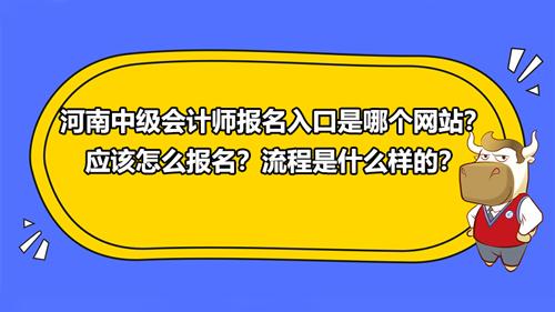 河南2021中级会计师报名入口是哪个网站?应该怎么报名?流程是什么样的?