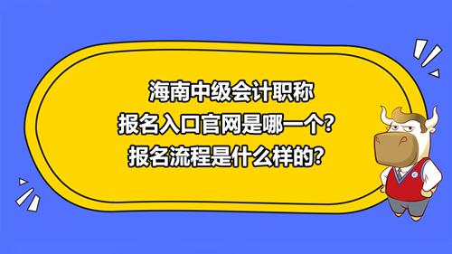 海南2021中级会计职称报名入口官网是哪一个?报名流程是什么样的?