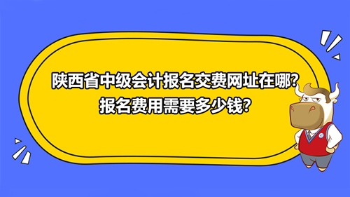 2021陕西省中级会计报名交费网址在哪?报名费用需要多少钱?