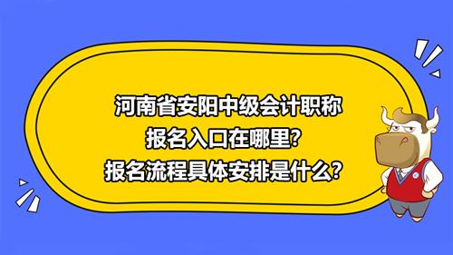 河南省安阳2021中级会计职称报名入口在哪里?报名流程具体安排是什么?