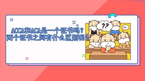 ACCA和ACA是一个证书吗?两个证书之间有什么区别和联系呢?