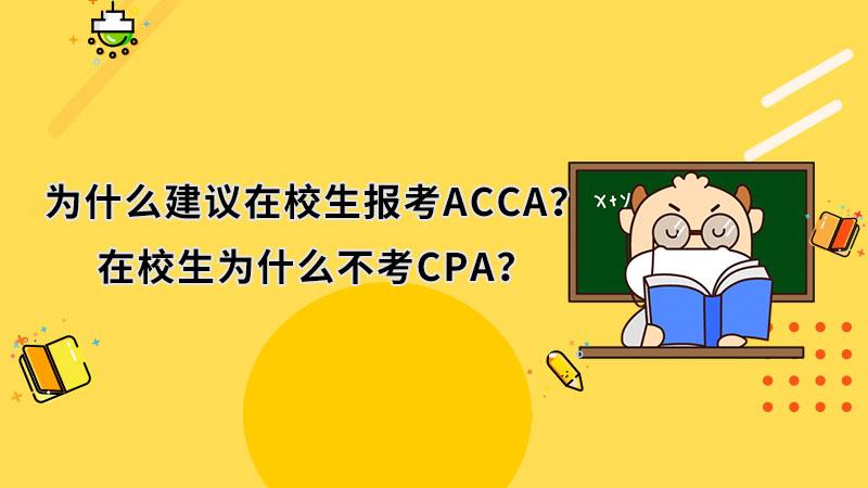 为什么建议在校生报考ACCA?在校生为什么不考CPA?