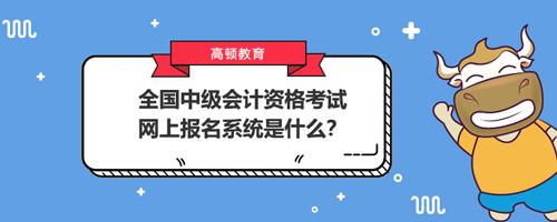2021全国中级会计资格考试网上报名系统是什么?