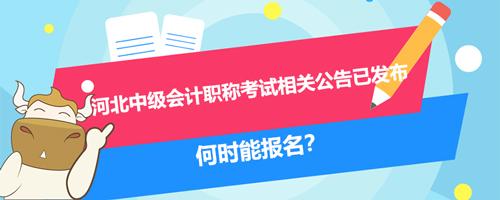 2021年河北中级会计职称考试相关公告已发布、何时能报名?