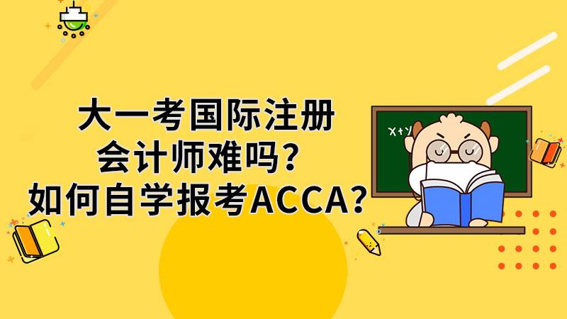 大一考国际注册会计师难吗?如何自学报考ACCA?