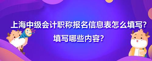 2021上海中级会计职称报名信息表怎么填写?填写哪些内容?