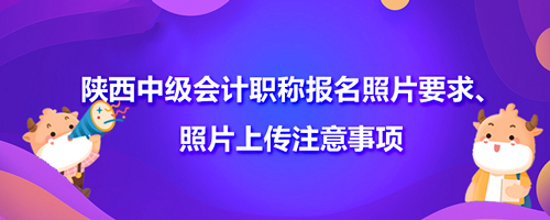 2021陕西中级会计职称报名照片要求、照片上传注意事项