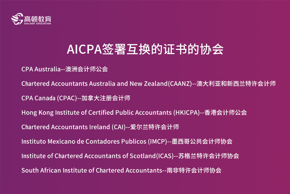 AICPA可互认的资格