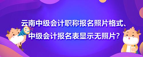 2021年云南中级会计职称报名照片格式、中级会计报名表显示无照片?
