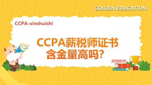 CCPA薪税师证书含金量高吗?就业前景好不好?