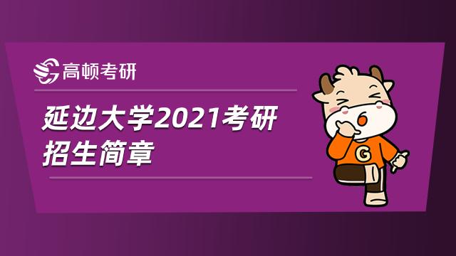 延边大学2021考研招生简章如下所示