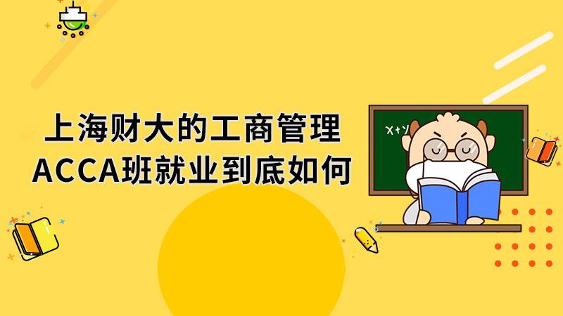 上海财大的工商管理ACCA班就业到底如何
