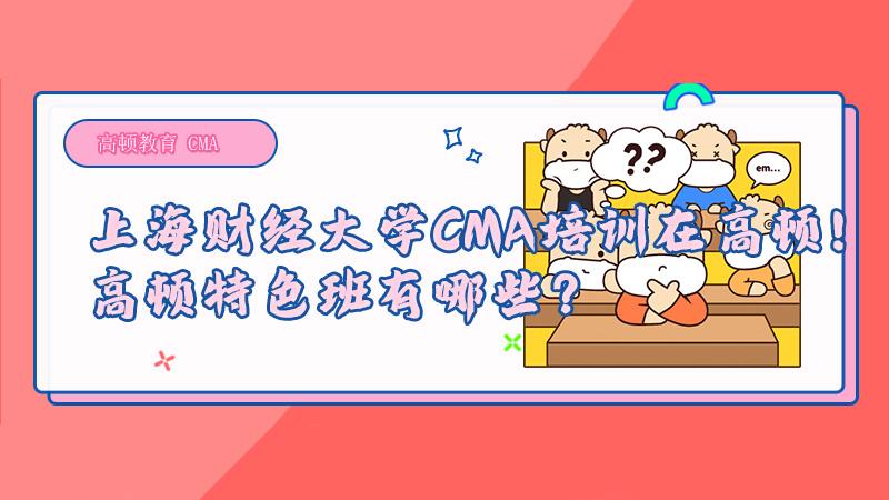上海财经大学CMA培训在高顿!高顿特色班有哪些?