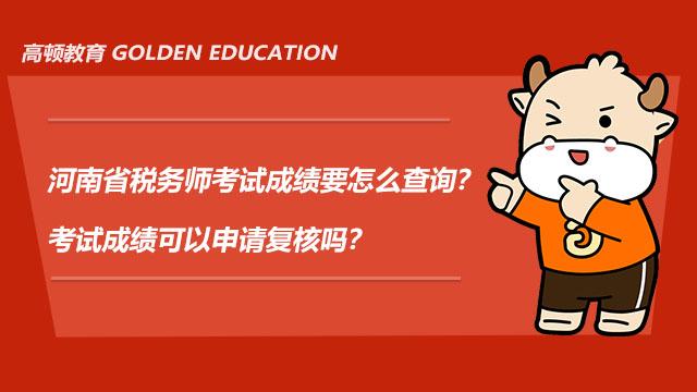 河南省税务师考试成绩要怎么查询?考试成绩可以申请复核吗?