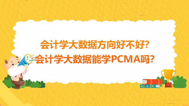 会计学大数据方向好不好?会计学大数据能学PCMA吗?