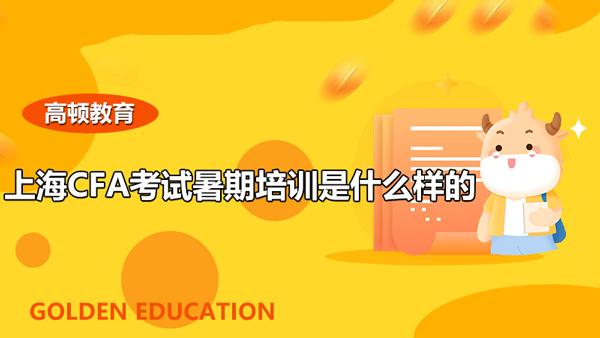 上海CFA考试暑期培训是什么样的?