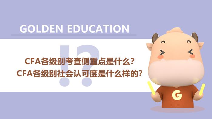 CFA各级别考查侧重点是什么?CFA各级别社会认可度是什么样的?