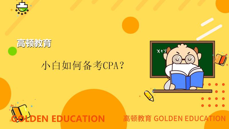 小白如何备考CPA