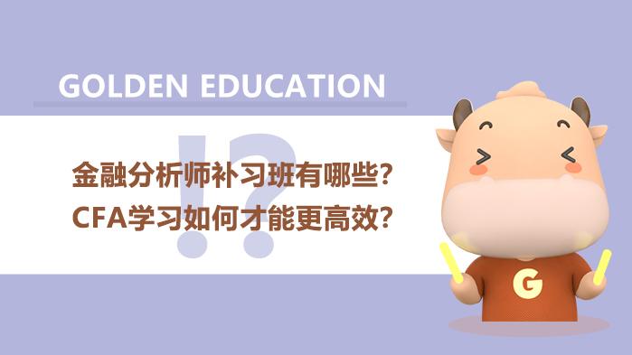 金融分析师补习班有哪些?CFA学习如何才能更高效?