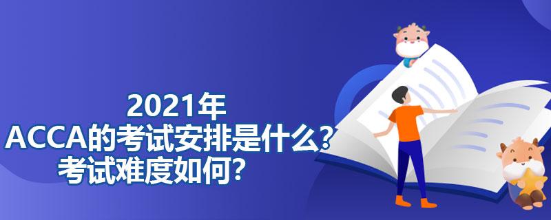2021年ACCA的考试安排是什么?考试难度如何?