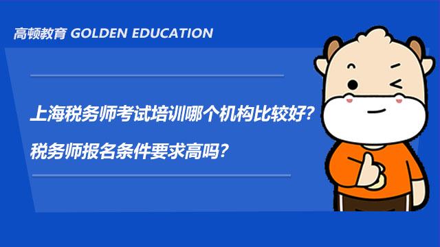 上海税务师考试培训哪个机构比较好?税务师报名条件要求高吗?