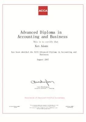 ACCA高级商业会计证书