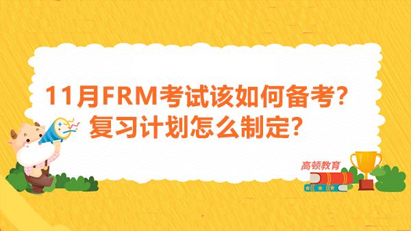 11月FRM考试该如何备考?复习计划怎么制定?