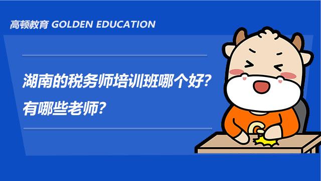 湖南的税务师培训班哪个好?有哪些老师?