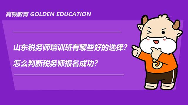 山东税务师培训班有哪些好的选择?怎么判断税务师报名成功?