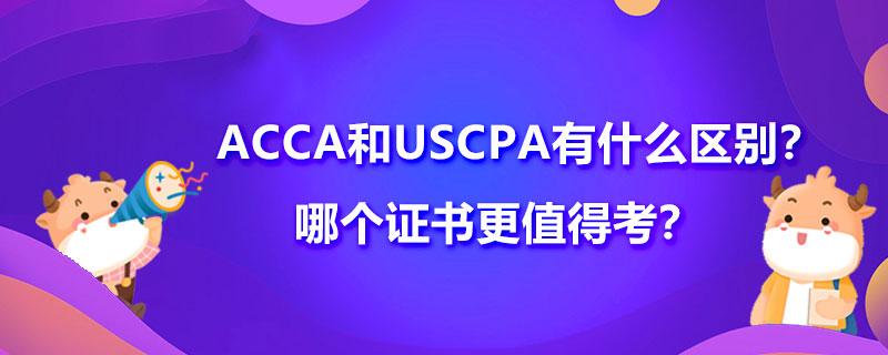 ACCA和USCPA有什么区别?哪个证书更值得考?