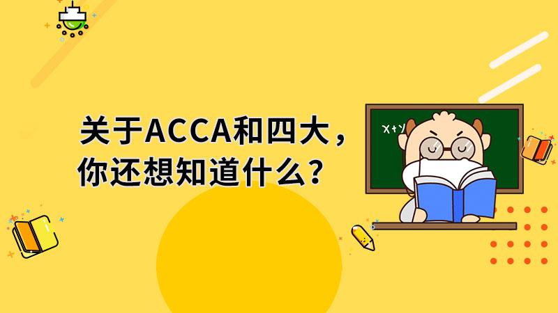 关于ACCA和四大,你还想知道什么?