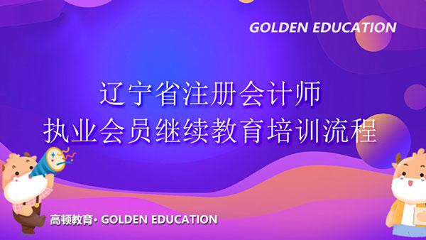 辽宁省注册会计师执业会员继续教育培训流程