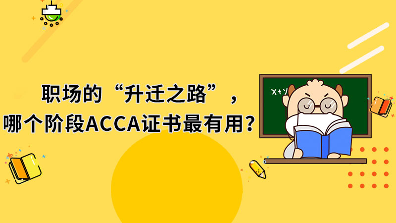 """职场的""""升迁之路"""",哪个阶段ACCA证书最有用?"""