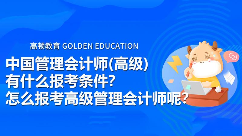 中国管理会计师(高级)有什么报考条件?怎么报考高级管理会计师呢?