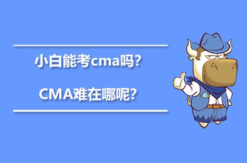 小白能考cma吗?CMA考试难在哪呢?
