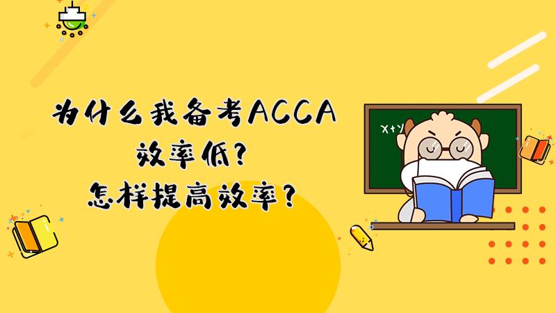 为什么我备考ACCA效率低?怎样提高效率?