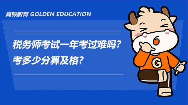 税务师考试一年考过难吗?考多少分算及格?