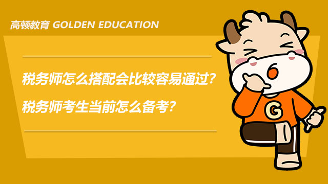 税务师怎么搭配会比较容易通过?税务师考生当前怎么备考?